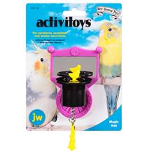 JW Activitoys Magic Hat / Игрушка для птиц Зеркальце с магической шляпой пластик
