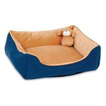 Petmate Rectangular Lounger W-Matching Toy, 4pk / Лежак Петмейт для кошек и собак Мелких пород с Бортиками и Игрушкой