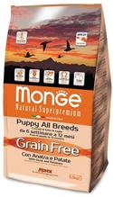 Monge Dog BWild Grain Free Puppy Duck / Сухой Беззерновой корм Монж Бивайлд для Щенков Утка картофель