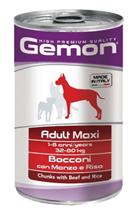 Gemon Adult Maxi Chunks Beef & Rice / Консервы Джимон для собак Крупных пород кусочки Говядины с рисом (цена за упаковку)
