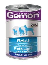 Gemon Light Pate Tuna / Консервы Джимон для собак Паштет Низкокалорийный Тунец (цена за упаковку)