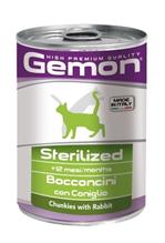 Gemon Sterilised Chunkies Rabbit / Консервы Джимон для Стерилизованных кошек кусочки Кролика (цена за упаковку)