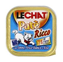 Заказать Lechat Pate Ricco con Tonno, Pesce Bianco e Riso / Консервы для кошек Паштет Тунец и океаническая Рыба Цена за упаковку по цене 1380 руб