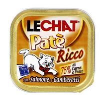 Заказать Lechat Pate Ricco con Salmone e Gamberetti / Консервы для кошек Паштет Лосось и Креветки Цена за упаковку по цене 1380 руб