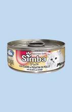 Simba Mousse / Консервы Симба Мусс для кошек Сердце и Куриная печень (цена за упаковку)