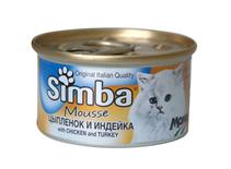 Simba Mousse / Консервы Симба Мусс для кошек Цыпленок и Индейка (цена за упаковку)