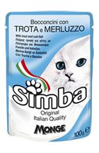 Simba Trota e Merluzzo / Паучи Симба для кошек Форель с треской (цена за упаковку)