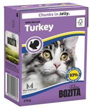 Bozita Feline / Консервы Бозита для кошек кусочки в желе Рубленая Индейка (цена за упаковку)