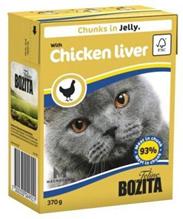 Bozita Feline / Консервы Бозита для кошек кусочки в желе Куриная печень (цена за упаковку)
