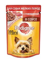 Заказать Pedigree Mini / Паучи для взрослых cобак Миниатюрных пород Говядина в соусе Цена за упаковку по цене 470 руб