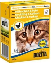 Bozita Feline / Консервы Бозита для кошек кусочки в соусе Курица и индейка (цена за упаковку)