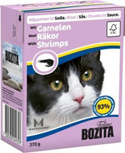 Bozita Feline / Консервы Бозита для кошек кусочки в соусе Креветки (цена за упаковку)