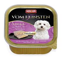 Animonda Vom Feinsten Adult / Консервы Анимонда для собак с Курицей, Яйцом и Ветчиной (цена за упаковку)