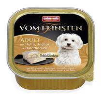 Animonda Vom Feinsten Adult / Консервы Анимонда для собак с Курицей, Йогуртом и Овсяными хлопьями (цена за упаковку)