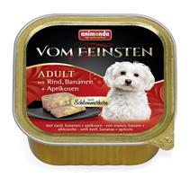 Animonda Vom Feinsten Adult / Консервы Анимонда для собак с Говядиной, Бананом и Абрикосами (цена за упаковку)