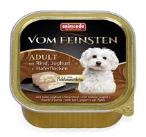 Animonda Vom Feinsten Adult / Консервы Анимонда для собак с Говядиной, Йогуртом и Овсяными хлопьями (цена за упаковку)