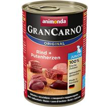 Animonda GranCarno Original Junior / Консервы Анимонда для Щенков и юниоров с Говядиной и сердцем Индейки (цена за упаковку)