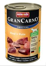 Animonda GranCarno Original Adult / Консервы Анимонда для собак с Говядиной и Индейкой (цена за упаковку)
