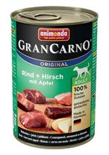 Animonda GranCarno Original Adult / Консервы Анимонда для собак c Говядиной, Олениной и Яблоком (цена за упаковку)
