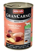 Animonda GranCarno Sensitiv / Консервы Анимонда для Чувствительных собак c Курицей и Картофелем (цена за упаковку)