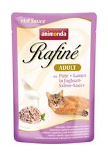 Заказать Animonda Rafin / е Soupе Adult паучи для кошек с Индейкой и Ягненком в Йогуртово-сливочном соусе Цена за упаковку по цене 1030 руб
