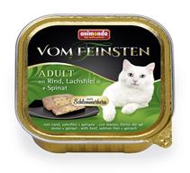 Animonda Vom Feinsten Adult / Консервы Анимонда для кошек с Говядиной, филе Лосося и Шпинатом (цена за упаковку)