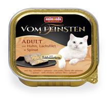Animonda Vom Feinsten Adult / Консервы Анимонда для кошек с Курицей, филе Лосося и Шпинатом (цена за упаковку)