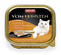 Animonda Vom Feinsten Adult / Консервы Анимонда для кошек с Курицей, Говядиной и Морковью (цена за упаковку)