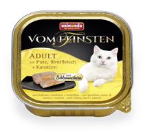Animonda Vom Feinsten Adult / Консервы Анимонда для кошек с Индейкой, Говядиной и Морковью (цена за упаковку)