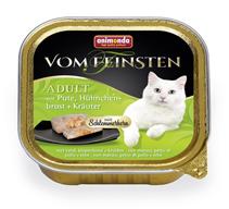 Animonda Vom Feinsten Adult / Консервы Анимонда для кошек с Индейкой, Куриной грудкой и Травами (цена за упаковку)