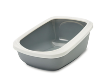 Savic Aseo Jumbo / Туалет-лоток Савик для кошек со съемным Бортом Пластиковый 67,5х48,5х28см