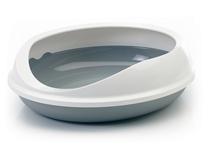 Savic Figaro / Туалет Савик для кошек Овальный со съемным Бортом 55х48,5х15,5см