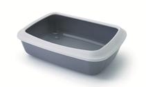 Savic Litter Tray Iriz / Туалет-лоток Савик для кошек сo съемным Бортом 42х30,5х10 см