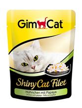 Заказать Gimcat Shiny Cat Filet / Паучи для кошек Цыпленок с папайей  Цена за упаковку по цене 4490 руб