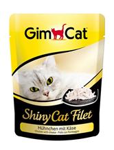 Заказать Gimcat Shiny Cat Filet / Паучи для кошек Цыпленок с сыром Цена за упаковку по цене 4490 руб