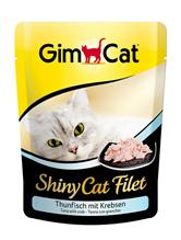 Заказать Gimcat Shiny Cat Filet / Паучи для кошек Тунец с крабом Цена за упаковку по цене 4490 руб