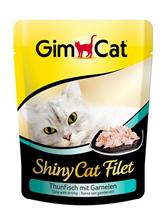 Заказать Gimcat Shiny Cat Filet / Паучи для кошек Тунец с креветками Цена за упаковку по цене 4490 руб