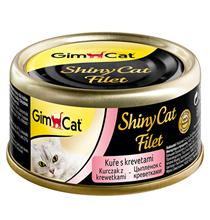 GimCat ShinyCat Filet / Консервы Джимкэт для кошек Цыпленок с креветками (цена за упаковку)