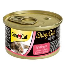 GimCat ShinyCat / Консервы Джимкэт для кошек Курица с крабом (цена за упаковку)