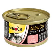GimCat ShinyCat Kitten / Консервы Джимкэт для Котят Цыпленок (цена за упаковку)
