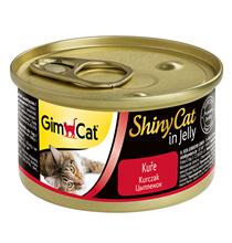 GimCat ShinyCat / Консервы Джимкэт для кошек Цыпленок (цена за упаковку)