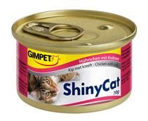 Заказать Gimpet Shiny Cat / Консервы для кошек Цыплёнок с крабами Цена за упаковку по цене 2140 руб