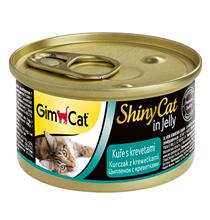 GimCat ShinyCat / Консервы Джимкэт для кошек Цыпленок с креветками (цена за упаковку)