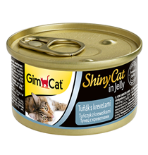 GimCat ShinyCat / Консервы Джимкэт для кошек Тунец с креветками (цена за упаковку)