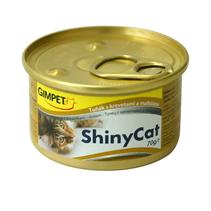 Заказать Gimpet Shiny Cat / Консервы для кошек Тунец с креветками и солодом Цена за упаковку по цене 2140 руб
