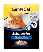 """Заказать Gimpet Schnurries Taurin + Lachs / Витаминизированное лакомство для кошек """"Сердечки"""" с Лососем по цене 1090 руб"""
