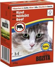 Bozita Feline / Консервы Бозита для кошек кусочки в соусе Говядина (цена за упаковку)