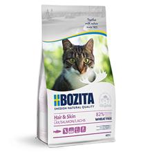Bozita Hair & Skin Wheat free Salmon / Сухой корм Бозита для взрослых и растущих кошек для Здоровой кожи и шерсти Без пшеницы Лосось