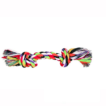 """Trixie / Игрушка Трикси для собак """"Веревка с 2-мя узлами"""" цветная хлопок"""
