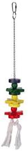 Trixie / Игрушка Трикси для попугая Деревянная на цепочке